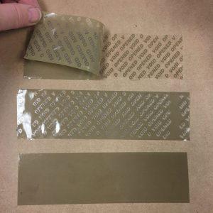 brown tamper evident security tape
